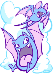 Zubats and Clouds by ChaosKomori