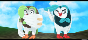 Pokemon MMD: Dartrix DL by kaahgomedl