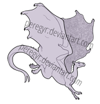 Pern Dragon Template - Jumping by peregyr
