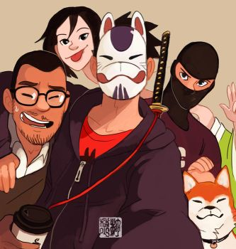 Group Selfie by tohdraws