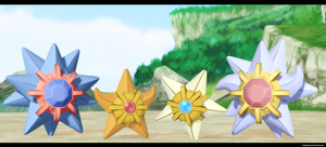 Mmd Starmie and Staryu by kaahgomedl