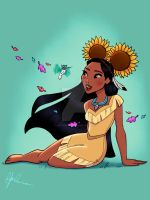 Mickey Ears - Pocahontas by DylanBonner