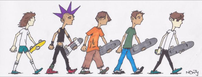 Evolution of Skate by GnarlyNewty