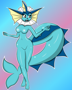 Vaporeon by TheLuckyNote827