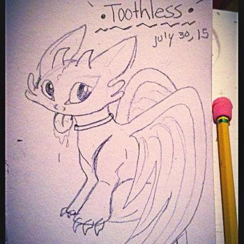 Toothless Sketch by BlakeSWAG