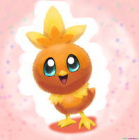 Torchic by Neonunderground