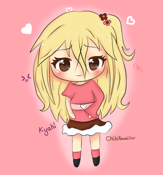 Kawaii Flower Chibi [Coloured] by ChibiKawaiiLuv