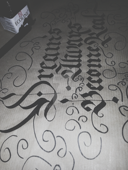 Dreams Always become Real Calligraphy