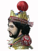 Portrait of Sassanid reenactor Nadeem Ahmad by AMELIANVS