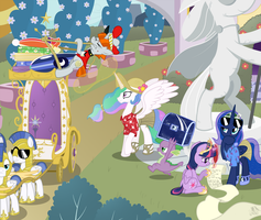 Royal Holiday [COMMISSION] by FacelessJr