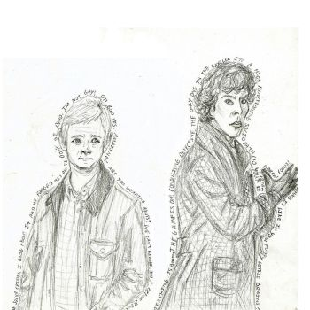W.I.P: The Detective and the Soldier sketch by Jozzyfruba