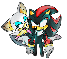 .:Gift:. ~ Shadow and Rouge by Toxikku