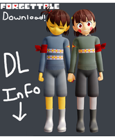 (DL DOWN)ForgetTale Frisk and Chara Model Download by SuperBecky