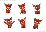 FNAF - Foxy Expression Sheet by Eternities-Shadow