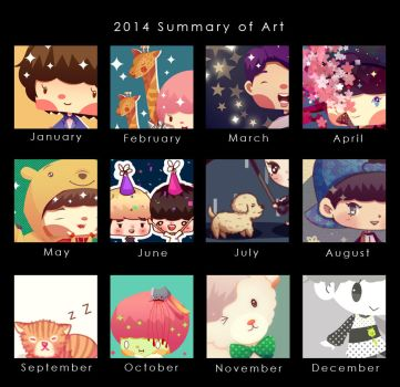 2014 Art Summary by Jadekyy