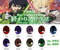 MMD Owari no Seraph Eye Texture Pack by Jaimelynh
