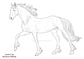 Horse-lineart-sport horse by Captain-Mistral
