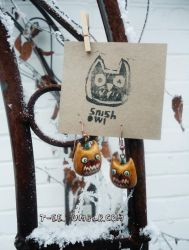 Snish Owl Earrings are back. by T-EE