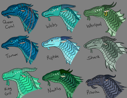 WOF Seawing Character Studies Colored by Iron-Zing