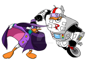 Darkwing Duck v Gizmoduck 2017 COLORED by LucasAckerman