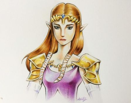 Princesa Zelda - Twilight Princess by DEVIAN-MALKHAVIAN