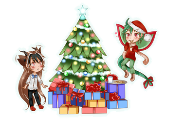 M.I. Secret Santa 2015 - Sticker Bakas Luv by Leben-chan