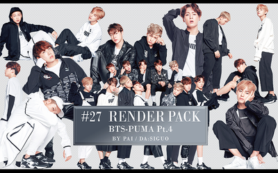 BTS PUMA RENDER PACK #27 by Pai by Siguo