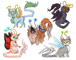 Fairy Cats by sleepyotter