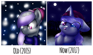 Old vs Now by SpaceBananaZ