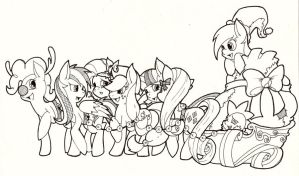 And Eight Tiny....um, Ponies? by EraserRain16