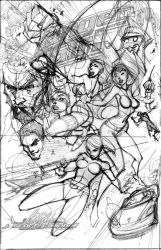 Danger Girl Poster Layout by J-Scott-Campbell