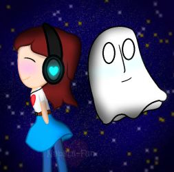 Me and Blooky by Nabstablook-Fangirl