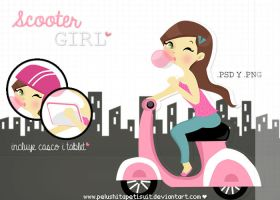 Scooter girl by PelushitaPetisuit