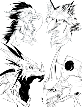 Sketches Part 1 by ArthasElric