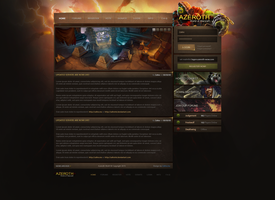 Azeroth Warcraft Web Design by ZafireHD