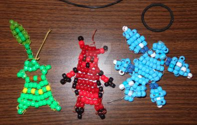 Bead Art: The Johto Trio You Never Knew by SpellboundFox