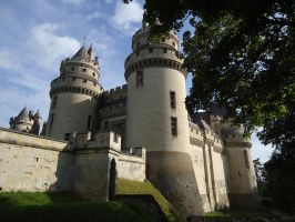 Pierrefonds Castle - Camelot in morninglight by MorgainePendragon