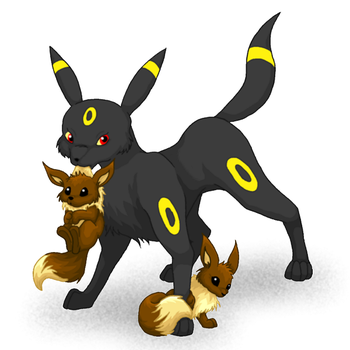Mother Umbreon by ayaluki