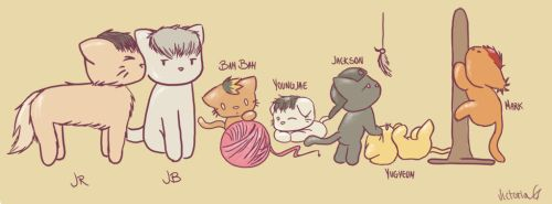 Got7 as cats by victoriagrace153