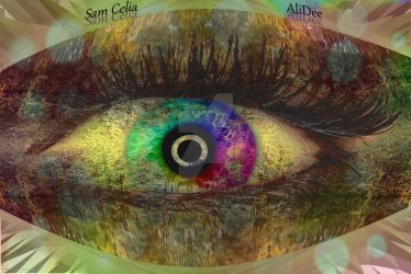 Rainbow Eye of the Forest by AliDee33