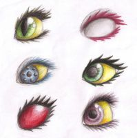 Homestuck Troll Girls' Eyes by Dragongirl9888