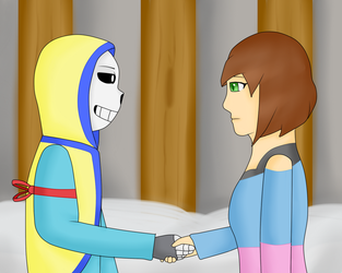 JustTale. Meeting in other universe. by MuskyCat90