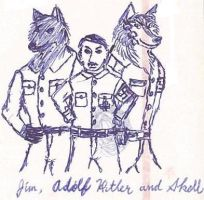 Jim and Adolf Hitler and Skoll by JimWolfdog