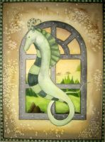 seahorse secrets by dragonflywatercolors