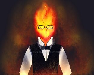 Grillby by Js-Kl