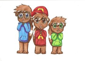 Alvin and the Chipmunks by bright-as-a-button