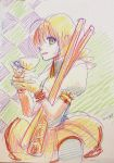 Mami-san with tea and rifles by skimlines