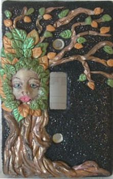 Dryad Switchplate by dreamweaversculpts