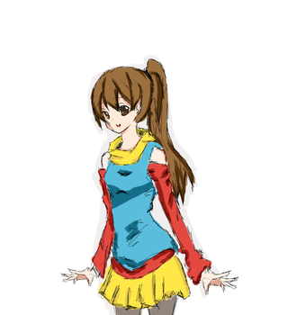another colored sketch 'for X3pochin' by natsu-azami