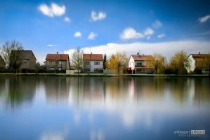 Houses in the mirror - Day by NorbertKocsis